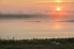 восход солнца тумана Стоковые Изображения RF