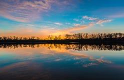 Восход солнца лугов Стоковая Фотография