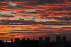 Восход солнца утра лета Стоковое фото RF