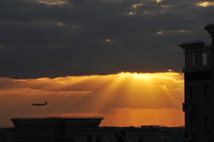 Восход солнца утра лета Стоковые Изображения