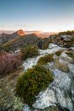 Восход солнца ущелья Linville от печных труб Стоковые Фото