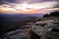 Восход солнца ущелья Linville Стоковое Изображение RF