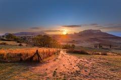 Восход солнца фермы освободившееся государство Стоковые Изображения