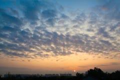Восход солнца Шанхая Стоковая Фотография