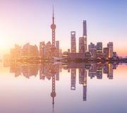 Восход солнца Шанхая Стоковая Фотография RF