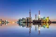 Восход солнца Шанхая Стоковое фото RF