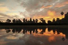 Восход солнца Angkor Wat Стоковое Фото