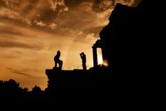 Восход солнца Angkor Wat Стоковые Изображения