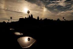 Восход солнца Angkor Wat Стоковая Фотография