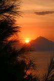Восход солнца Athon стоковая фотография