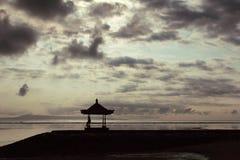 восход солнца bali Стоковое Изображение