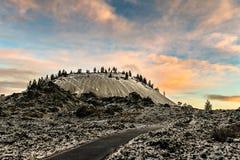 Восход солнца Butte лавы Стоковые Изображения RF