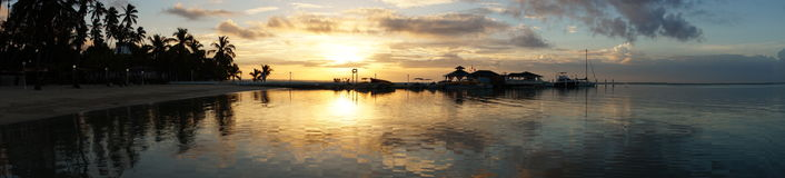 Восход солнца Dominicana Стоковое фото RF