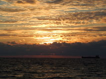 Восход солнца - Fort Lauderdale стоковая фотография rf