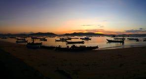 Восход солнца Gerupuk Стоковые Изображения RF