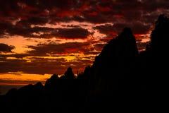 Восход солнца Huangshan Стоковые Изображения
