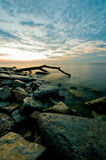 Восход солнца Lake Michigan Стоковые Изображения RF