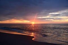 Восход солнца Magestic над океаном Стоковое Изображение RF
