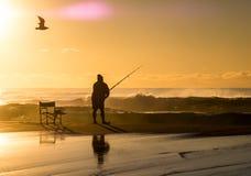 восход солнца maggiore озера Италии рыболовов Стоковое Изображение