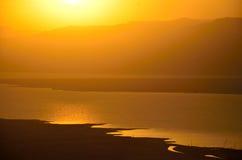 Восход солнца Masada Стоковые Фото