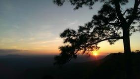 Восход солнца Phamakduk стоковые фотографии rf