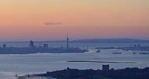 Восход солнца Portmouth Стоковые Изображения