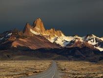 восход солнца roy patagonia держателя fitz Аргентины Стоковое Фото