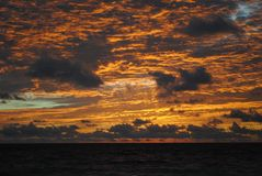 Восход солнца Tulum, Tulum, Мексика Стоковое Изображение RF