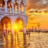 восход солнца venice Стоковые Изображения RF