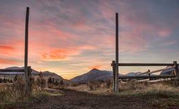 Восход солнца YaHa Tinda Стоковое Изображение RF