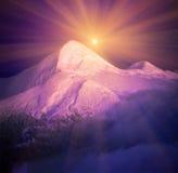 Восход луны над Черногорией Стоковое Изображение