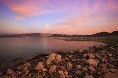 Восход луны Meade озера Стоковые Изображения
