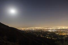 Восход луны San Gabriel Valley Стоковая Фотография