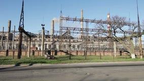 восходящий поток теплого воздуха силы завода центрального отопления сток-видео