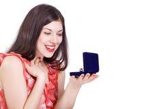 восшхищенная женщина драгоценности Стоковые Фотографии RF