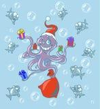 восьминог рождества Стоковое Изображение RF