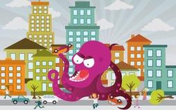 Чужеземец атакует город Стоковое Изображение RF
