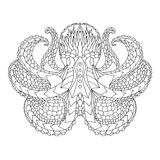 восьминог Этническая сделанная по образцу иллюстрация вектора Стоковые Изображения RF