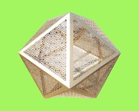 Восьмиугольник визирования от золота стоковые изображения