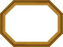 восьмиугольник рамки деревянный Стоковая Фотография RF