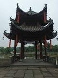 Восьмиугольный павильон с китайскими характеристиками стоковое фото