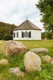 Восьмиугольная часовня на Vitt, острове Ruegen, Балтийском море Стоковое Изображение