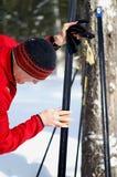 вощить лыж Стоковая Фотография