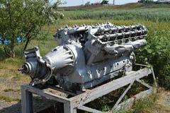 воюя двигатель шлюпки стоковое изображение