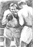 2 воюя мексиканских боксера Стоковая Фотография RF