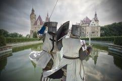 Воюя рыцари стоковое изображение rf