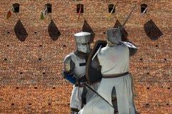 Воюя рыцари стоковая фотография rf