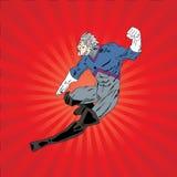 Воюя супергерой Стоковое фото RF