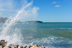Вода брызгает в Istria, Хорватии Стоковые Изображения RF