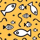 вода вектора иллюстрации рыб предпосылки голубая Стоковые Изображения RF
